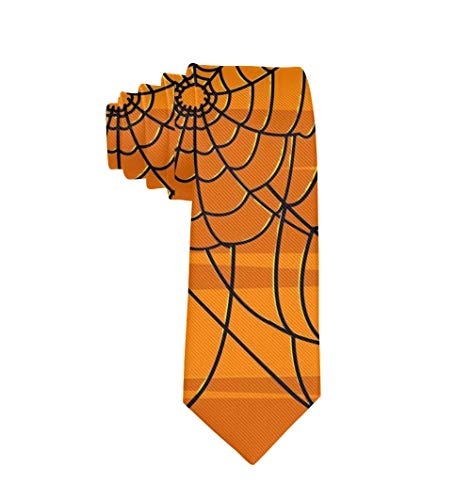 Polyester Textile Halloween Cravate Web D'araignée Pour Hommes Garçons D'affaires Formelles Costume De Fête De Mariage Cravate