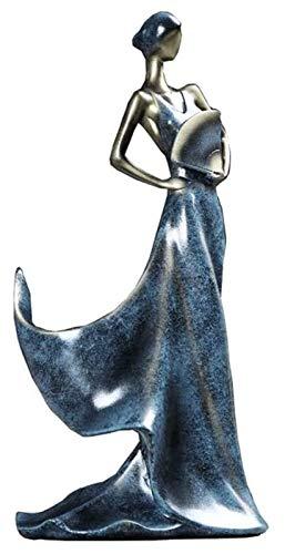LIUYULONG Estatuas Escultura decoración Estatua Hermosa niña Manualidades Modelo Fijo Estante práctico Vino Botella Porta decoración de la casa Accesorios Figurines Decorativas