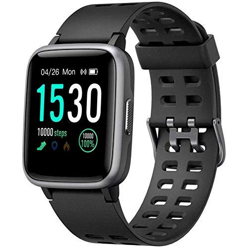 GSJDQW Sport Horloge Fitness Tracker Activiteit Tracker Hartslagmeter 1.3 Inch Touch Screen IP68 Waterdicht Meerdere Sport Mode, Compatibel met IOS/Android