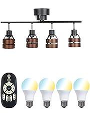 共同照明 シーリングライト 4灯 ペンダントライト スポットライト LED対応 E26 北欧 DJ-2D 折りたたみ式
