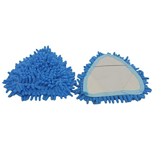 Doitsa Juego de 2 cabezales de fregona triangulares multiusos de repuesto, azul, 16 x 16 cm