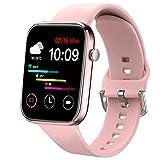 Ezanaki Smartwatch, 1,69'' Touch Schermo Orologio Fitness Uomo Donna, Impermeabile IP67 Smart Watch Cardiofrequenzimetro da Polso, Notifiche Messaggi, Fitness Tracker Sport per Android iOS Rosa