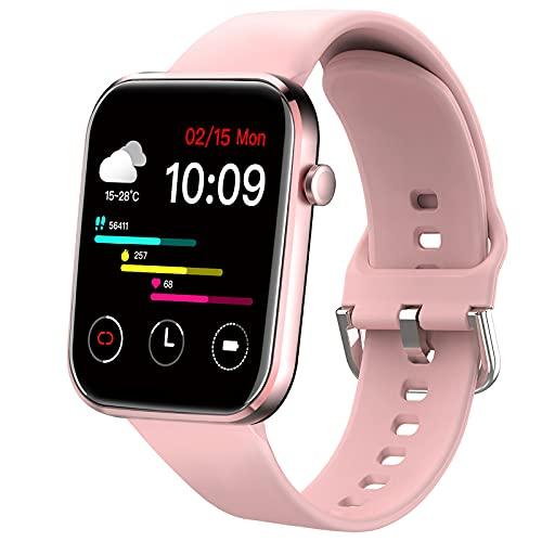 Ezanaki Smart Watch, 1.69-Zoll Fitness Armbanduhr für Damen Herren, Fitness Tracker IP67 Wasserdicht Sportuhr, Aktivitätstracker mit Pulsuhr, Schrittzähler, Schlafmonitor, Smartwatch für Android iOS