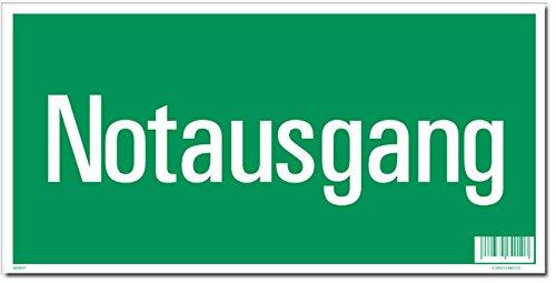 Rettungsschild Notausgang gn/we 297x148mm Kunstst.