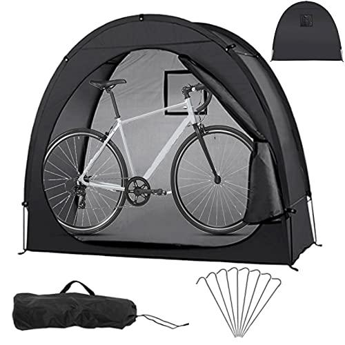 Timisea Fahrradzelt Großer Fahrradschuppen, Fahrradüberdachung Fahrradaufbewahrung Outdoor mit Fenster Design oder Garten Outdoor Heimunterstand, Starke Verstärkung Bodennagel 200 X 80 X 165cm