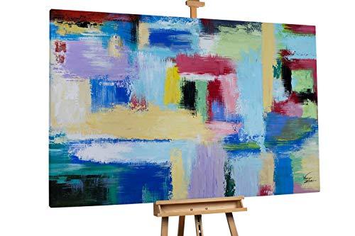 Kunstloft® Extraordinario Cuadro óleo 'Juego Colores'