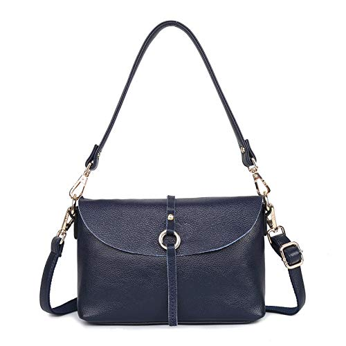 CMZ Backpack Leather Handbags Fashion Simple s All-Match one-Shoulder Portable Messenger Leather Small Square Bag