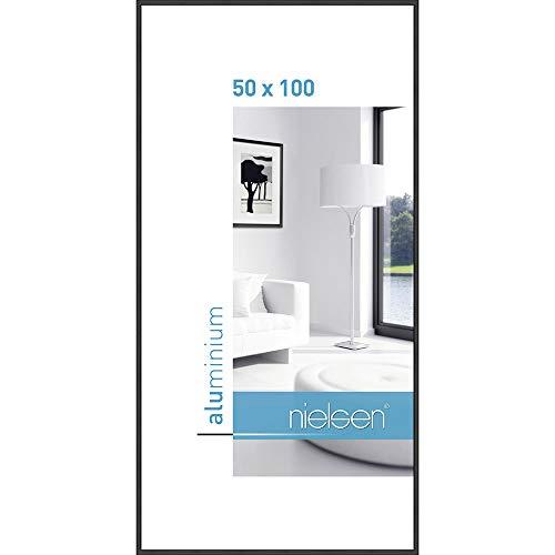 Bilderrahmen von Nielsen Alurahmen Classic 50x100 Schwarz - Normalglas