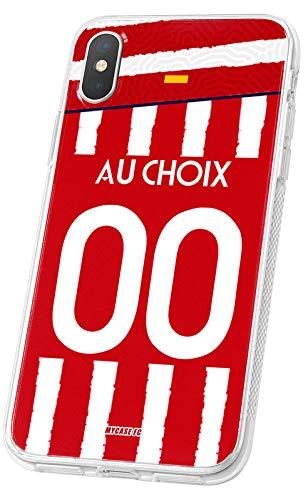 MYCASEFC - Cover Calcio Personalizzabile Atletico Madrid Huawei P9 Lite Mini in Silicone Custodia di Calcio per Smartphone Personalizzata e Realizzata in Francia in TPU