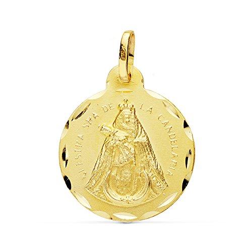 Medalla Ntra. Sra. Candelaria 18 Ktes 20 mm - Personalizable, grabado incluido