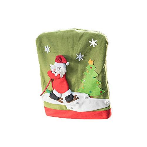kentop silla comedor decoración Navidad stuhlabdeckung funda para silla decorativa de Navidad Mesa decorativa, apto para las mayoría de Essen famoso, franela, muñeco de nieve, 60×50cm