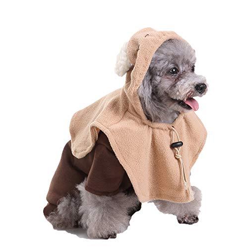 CHIYEEE Natale Costumi per Animali da Compagnia Halloween Divertente Abbigliamento Feste Vestire Cappotto per Cani Gatti L