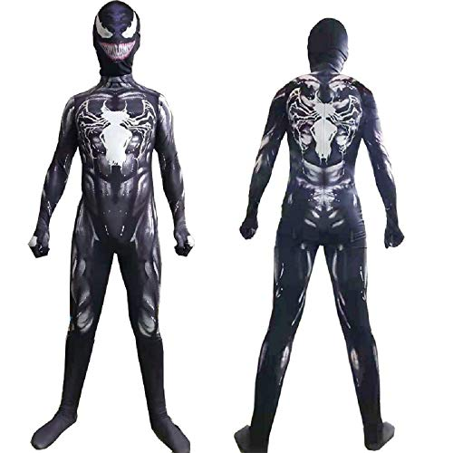 LuBHnna Venom Jumpsuit Superhéroe Disfraz Disfraz Adultos Superhéroe Cosplay Mono Onesies