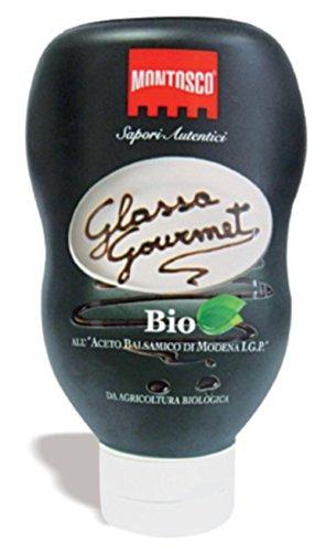 Glassa Gourmet Bio Aceto Balsamico di Modena I.G.P. Montosco 250g Prodotto Biologico - 2 Confezioni (500gr)