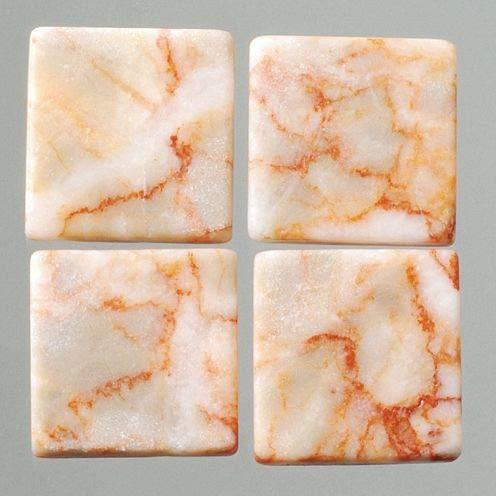 MosaixPur Mozaïek Tegels Natuursteen 10 x 10 x 4 mm 200 g ~ 205 st. rood/Wit Marmer