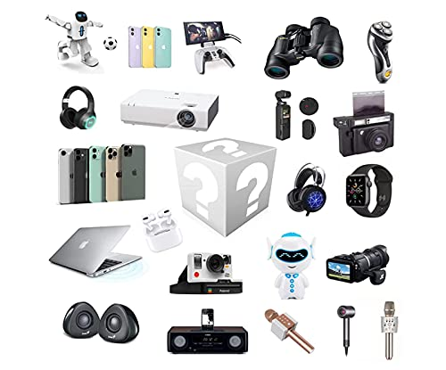 HtapsG Scatola cieca Mystery Box Electronics,Mystery Boxes Random,Birthday Surprise Box,Lucky Box for Adults Surprise Gift,Such As Drones,Smart Watches,Gamepads And More,Best Gift for Holidays