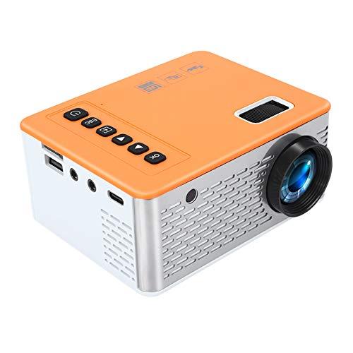 Tragbarer Beamer Mini Beamer Filmprojektor draussen Full HD Kompatibel mit Laptops...