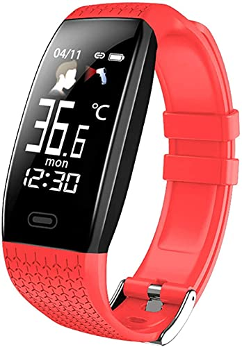 Reloj inteligente T5 temperatura corporal impermeable Fitness pulsera recordatorio llamada ejercicio modo inteligente reloj deportivo hombres y mujeres-A
