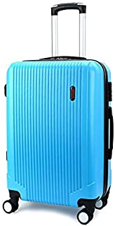 "SRY-Luggage PC Convenient Trolley Case,Super Storage Luggage Bag,Wheels Travel Rolling Boarding,20"" 24"" Inch Durable Carry on Luggage (Color : Blue, Size : 20inch)"