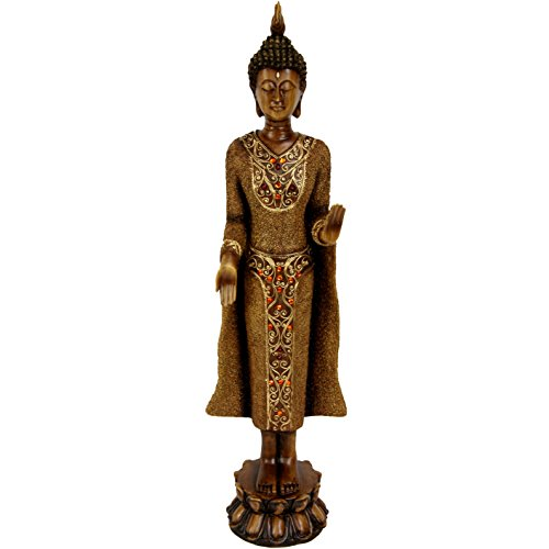 Oriental Furniture 20' Standing Thai Buddha Statue
