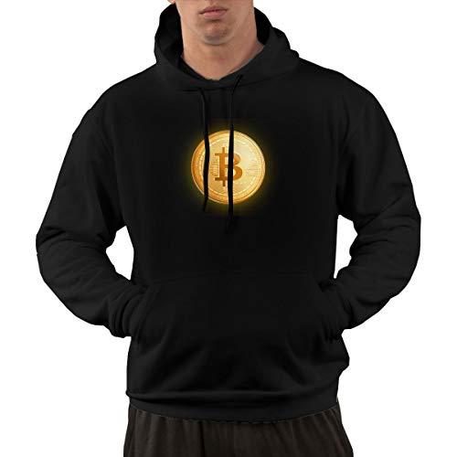 Wuyouhua Bitcoin - Felpa Sportiva da Uomo con Cappuccio, Colore: Nero
