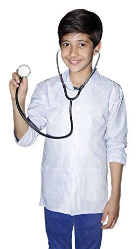 Generic Kinder Unisex Mädchen Jungen Kostüm Halloween Ärzte Krankenhaus Tierarzt Mantel und Blut