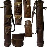 Marrón piel de vaca Golf Club–Bolsa de dos bolsillos H-34d-5.5inch, Nueva