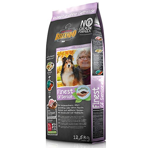 Belcando Finest GF Senior [12,5 kg] getreidefreies Hundefutter | Trockenfutter für empfindliche ältere Hunde | Alleinfuttermittel für Hunde ab 1 Jahr
