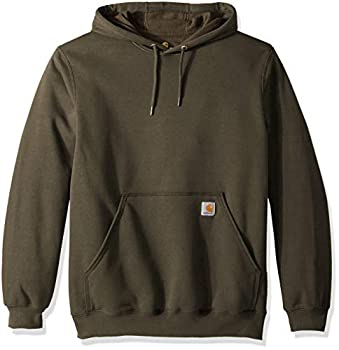 Carhartt Men s Midweight Original Fit Hooded Pullover Sweatshirt K121 Moss Medium