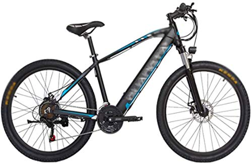 Fangfang Electric Bikes, 27.5 inch Electric Bikes,Hidden lithium battery Variable speed 48V10A Boost Bike Bicycle Men Women,E-Bike (Color : Blue)