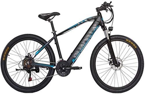 RDJM Bici electrica, 27,5 Pulgadas Bicicletas eléctricas, batería de Litio Ocultos Velocidad Variable 48V10A Boost for Bicicleta Hombres Mujeres (Color : Blue)