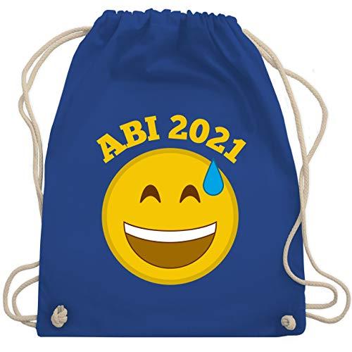 Shirtracer Abi & Abschluss - Emoticon - Abi 2021 - Wer hätt's gedacht? - Unisize - Royalblau - abi handtuch 2019 - WM110 - Turnbeutel und Stoffbeutel aus Baumwolle