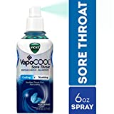 Vicks VapoCOOL Sore Throat Spray, Relieves Painful Sore Throat, Fast-Acting, 6...