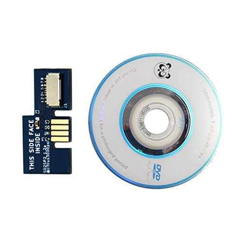 Rong SD2SP2 - Adaptador para lector de tarjetas TF de repuesto + disco Swiss Boot Disc Mini DVD para Nintendo Gamecube NGC NTSC