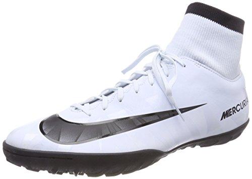 NIKE Mercurial X Victory Vi Cr7 DF TF 903612 - Botas de fútbol para Hombre, Hombre, Zapatos de fútbol, 903612, Color Azul, Negro, Blanco y Azul, 45
