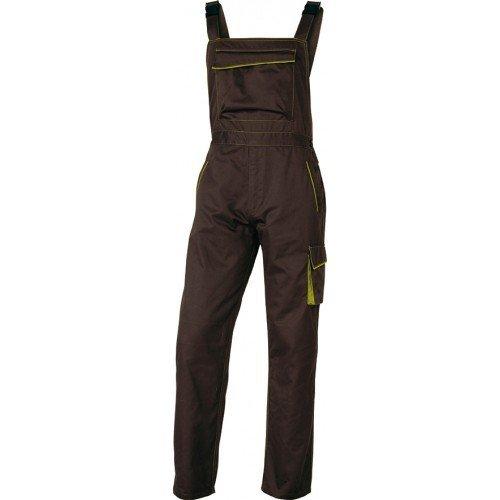 Delta Plus M6SALMATPT Panostyle Arbeitslatzhose aus Polyester Baumwolle, Braun-Grün, XS