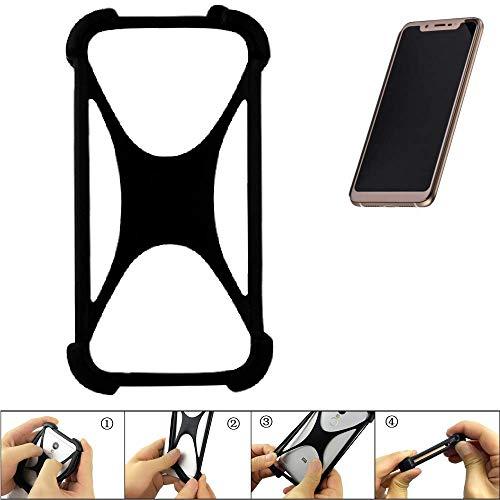 K-S-Trade Handyhülle für Doogee V Schutz Hülle Silikon Bumper Cover Case Silikoncase TPU Softcase Schutzhülle Smartphone Stoßschutz, schwarz (1x)