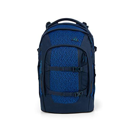 satch Pack Blue Moon, ergonomischer Schulrucksack, 30 Liter, Organisationstalent, Blau