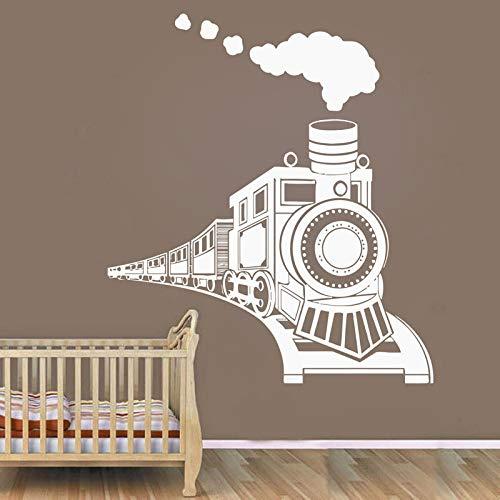 Vinyl Art Design Wandbild Poster Kinderzimmer Baby Boy Toy Train Wandaufkleber Kinderzimmer Dekoration42x48cm