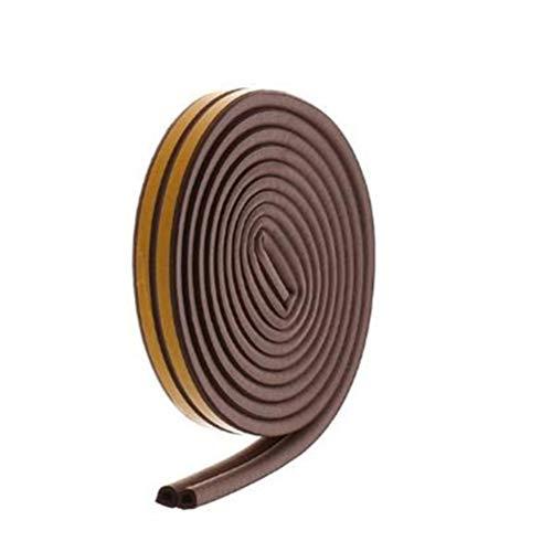ZIXIXI Burlete de goma para puerta (10 metros), autoadhesivo, tipo D, para ventana, puerta, puerta, puerta o puerta, aislamiento acústico, para evitar la insonorización