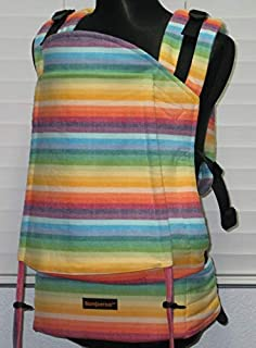 """Bamberoo Custom Baby Carrier Girasol""""I believe in rainbows"""" (cream weft) Choose your body size and strap length!"""