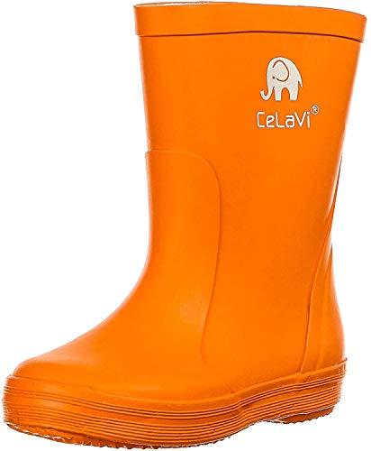 CeLaVi Basic wellies - solid Gummistiefel, Orange, 33 EU