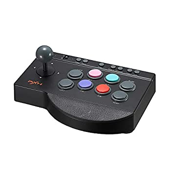 PXN 0082 Arcade Fight Stick Fighting Joystick Controller PC Street Fighter Arcade Game USB Cable for PS3 PS4 Xbox One Switch Window PC