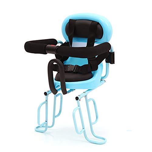 YXZN Fahrrad-Kindersitz Hinten Baby Sitze Vollzaun Mit Sicherheitsgurt,Blue,57X36CM