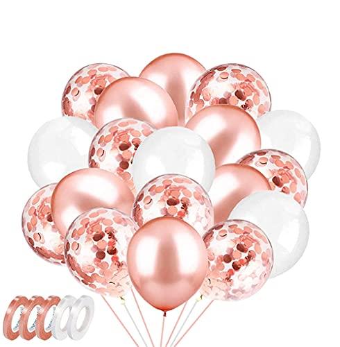 ZHOUHON 60 Palloncini Oro Rosa Palloncini Compleanno Rosa Gold Usati per Matrimonio Laurea Baby Shower Decorazioni Compleanno (Oro Rosa)