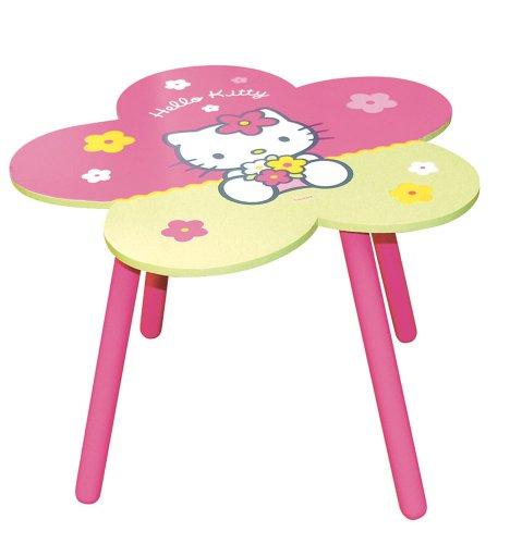 Hello Kitty - 711164 - Ameublement et Décoration - Table Fleur Bois en Boîte - Quadricolore