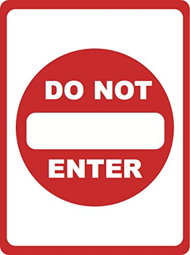 Do Not Enter - Parking Lot Sign - Traffic Directional Signs - Aluminum Metal