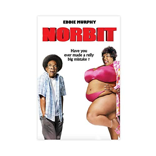 Norbit Movie Poster Cover Retro Pop College Restaurant Cafe Small Bar Decoration 1 Canvas Poster Wall Art Decor Print Picture Paintings for Living Room Bedroom Decoration 12×18inch(30×45cm) Unframe-st