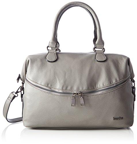 Boscha Damen Zip Bag Henkeltasche, Grau (Grey), 15x24x35 cm