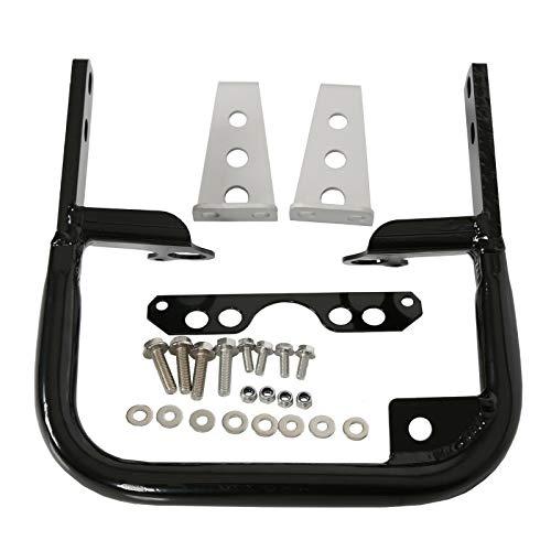 New, Quality for Yamaha YFZ 450 Grab Bar 04-13 Rear Bumper Black Aluminum + Useful Free E-Book